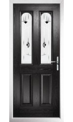 The Aylesbury Black Composite Door with Black Murano
