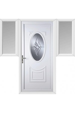 Maidenhead Bevel Cluster uPVC Door with Two Flags