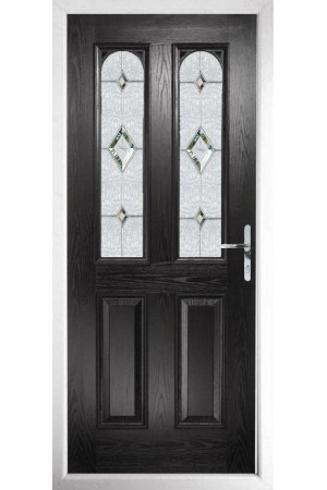 The Aylesbury Black Composite Door with Crystal Diamond