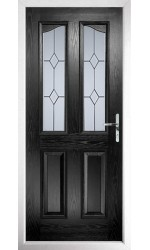 The Berkshire Black Composite Door with Classic Glazing