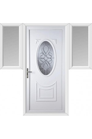 Maidenhead Ice Cluster uPVC Door with Two Flags