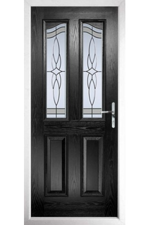 The Berkshire Black Composite Door with Crystal Harmony Frost