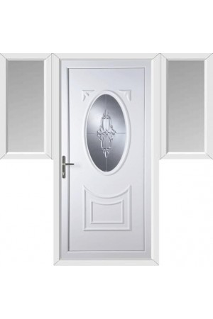 Maidenhead Sapphire uPVC Door with Two Flags
