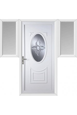 Maidenhead Star Bevel uPVC Door with Two Flags