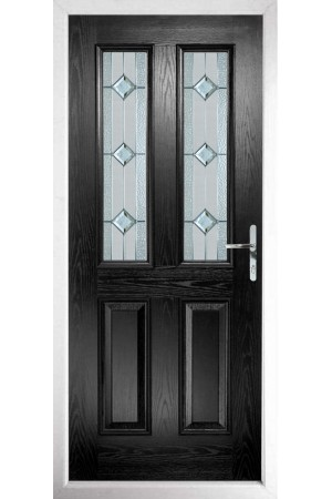 The Cheshire Black Composite Door with Simplicity